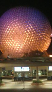 EPCOT at night!