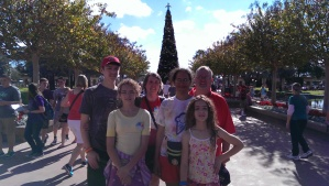 Family Picture with EPCOT Christmas Tree