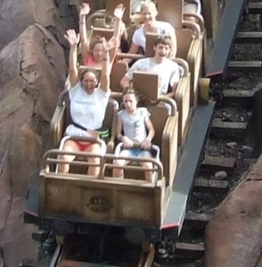 First two rows, Family on Expedition Everest