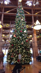 Christmas Tree at  Disney's Wilderness Lodge Resort, Walt Disney World 2013