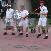 Jammitors entertain around Future World, EPCOT
