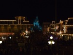 Main Street U.S.A. at Night from the Train Platform